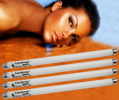 4 x NEW PURE SUN FACIAL  SOLARIUM UVA TANNING LAMPS TUBES FOR PHILIPS TANNER ETC