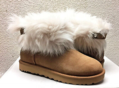 82930c40438 UGG CLASSIC VALENTINA BLACK SUEDE FULLY FUR LINED Boot US 8 / EU 39 ...
