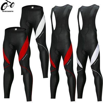 Men's Cycling Tights Thermal Pad Legging Bike Bicycle Trousers Long Pants Shorts