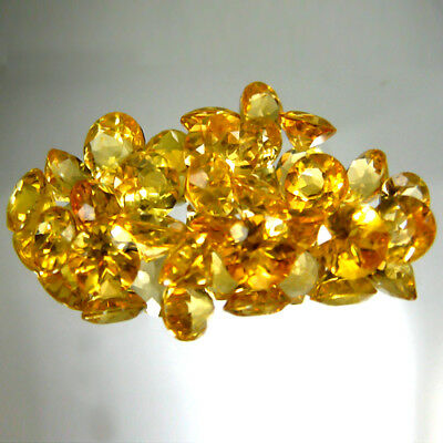 19.50 Cts Golden YELLOW Heliodor NATURAL BERYL ROUND CUT 25 PC'S LOOSE GEMSTONES