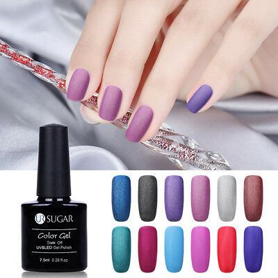 7.5ml Soak Off Nail Art UV Gel Polish Matte Glitter Varnish Manicure UR SUGAR