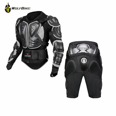 Motorcycle Full Body Armour Protection Spine Protector Hip Protective Gear Short