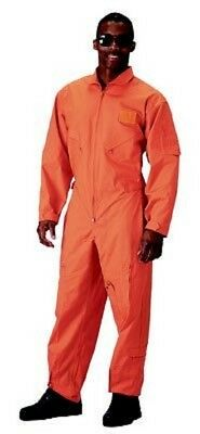 735b0dddc3c Orange Military Style Flight Suit    CLEARANCE   Air Force Coveralls Size  Large