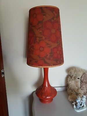 Vintage retro 1970s lamp, old lamp, vintage table lamp