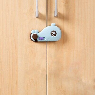 2X(Cartoon Whale Shape Baby Safety Cabinet Door Lock Baby Kids Security Car X5X3