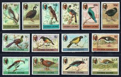 Sierra Leone 1980 Birds set fine mint unmounted **