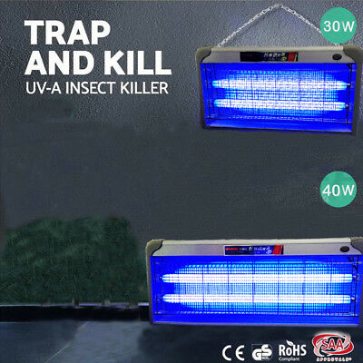 30/40W Insect Killer Bug Zapper Trapper Mosquito Pest Catcher Electric UVA LED
