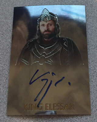Lord of the Rings Trilogy Chrome Autograph - King Elessar - Viggo Mortensen