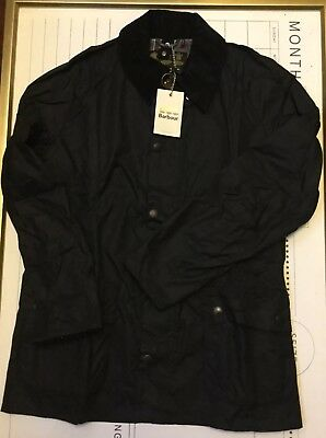 Barbour Ashby Wax Jacket Size Large Navy Brand New W Tags