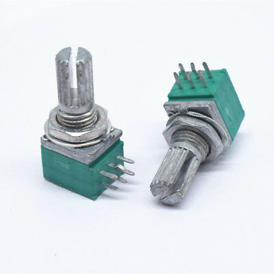 5 PCS Taiwan original 09 type Dual 50K A type Gear shaft Volume potentiometer