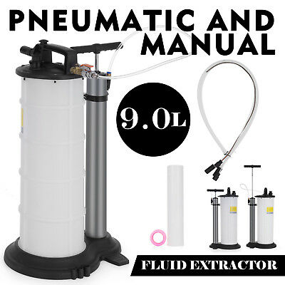 9L Air Operated/Pneumatic Fluid Extractor Tank Remover Oil Coolant Vacuum PRO