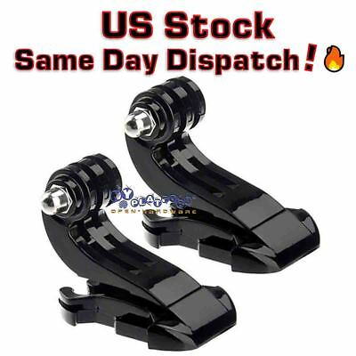2x J-Hook Buckle Mount Adapter Holder for GoPro HD Hero 6 5 4 3 US