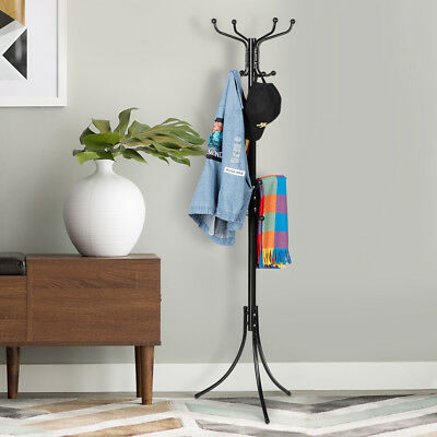 Metal Coat Stand Rack Clothes Hanger Hat Tree Vintage Jacket Bag Umbrella AU