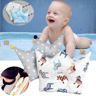 22AE Baby Anti-Roll Pillow Infant Memory Prevent Head Flat Support Cute Lovely