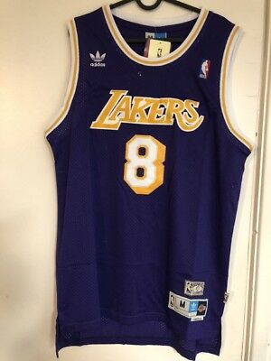Kobe Bryant #8 Los Angeles Lakers Vintage Purple Throwback Basketball Jersey NWT
