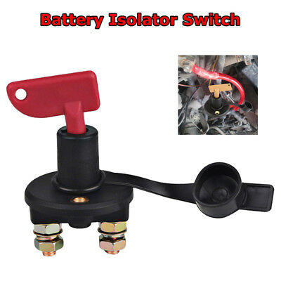 Battery Isolator Switch with spare key 100a Continuous@12v 500a cut off kill UK
