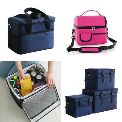 Cool Bag Lunch Box School Office Picnic Insulated Thermal Cooler Zip Carry Tote