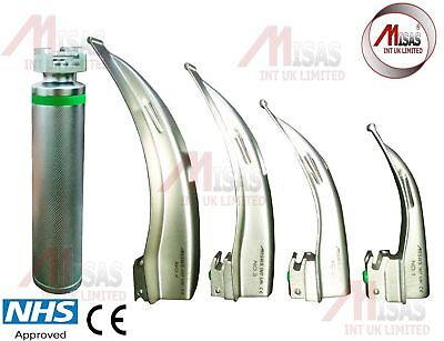 Fiber-Optic-Macintosh-Laryngoscope-Set-with-4-Blades-Top Quality
