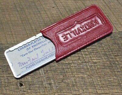 VTG Charga Plate Stores of Knoxville Credit Token Credit Card Advertising Case