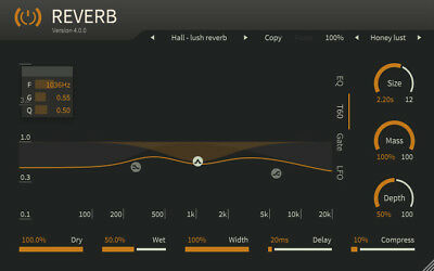 ToneBoosters Reverb 4 (MAC, Windows) VST, VST3, AU, AAX  plugin