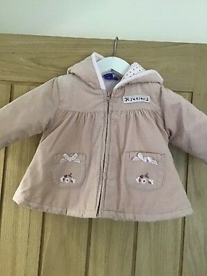 Baby Jasper Conran Junior Baby Girls Pale Pink Hooded Jacket Age 3-6 Months Jumpers & Cardigans