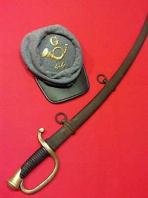 CIVIL WAR  Model 1840 Lt. Artillery Saber Dated 1861 by AMES with Orig. Scabbard