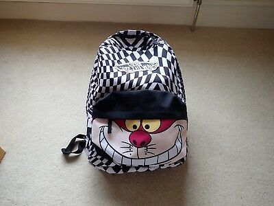 1bddb119191 Vans Disney Black   white checked Back Pack Ruck sack School Bag Cheshire  Cat