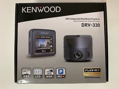 "Kenwood DRV-330 2"" Front Dash Cam Night Vision Camcorder HD Recorder 1080p 2MP"