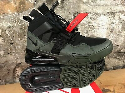 54832b33fc96 Nike Air Force 270 Utility Men s AQ0572-300 Seqouia Habanero Black NEW 2018