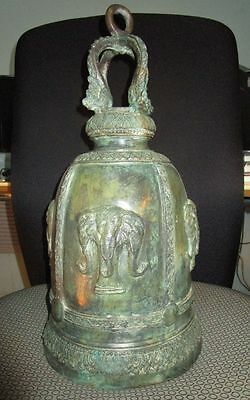 Thai Temple Bell Elephant Head Bronze