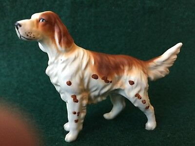 Vintage Adorable English Setter dog figurine Perfect condition