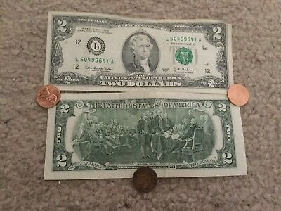 Circulated $2 Bills - Two Dollar Bills - Federal Reserve Notes 1976-2013