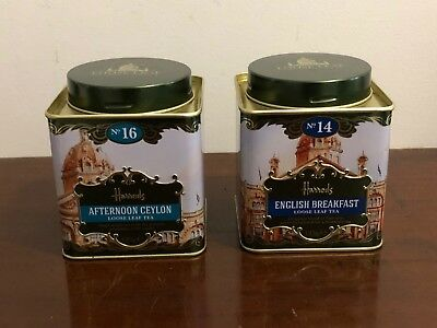 Harrods No.14 & No.16 Loose Leaf Tea Tins