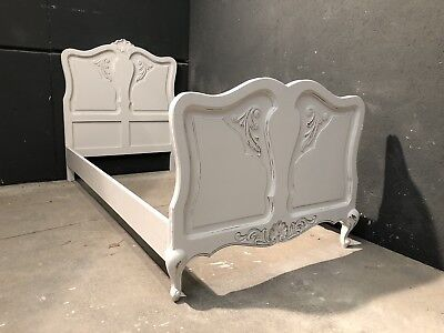 Vintage French Single size bed/ Painted French bed shabby chic style