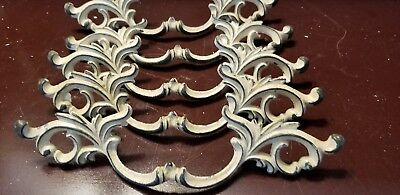 Vintage French Provincial Large Drawer Pulls Handles Lot of 5 Antique Hardware
