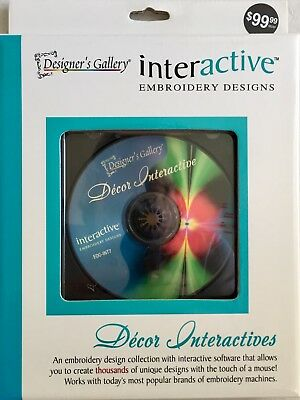NEW Designer's Gallery Interactive Embroidery Decor Interactives