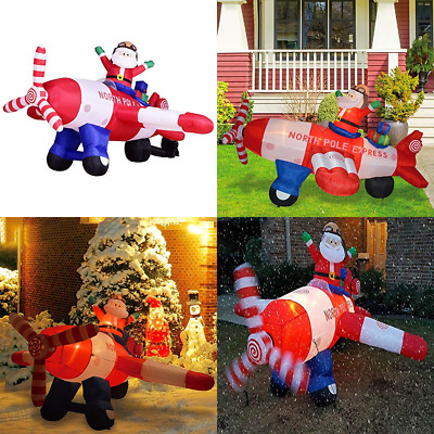 Christmas Inflatables.8 Ft Christmas Inflatables Helicopter Santa Animated Airblown Inflatable Flying