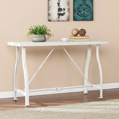 CST45901 Farmhouse Style Console Table - Distressed White