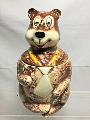 MCCOY HAMM'S BEAR Vintage COOKIE JAR marked 148 USA cl