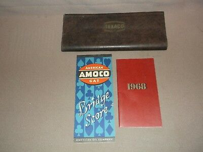 1972 Texaco Road Map 1968 Esso Date Book Amoco Bridge Score Booklet, Nr
