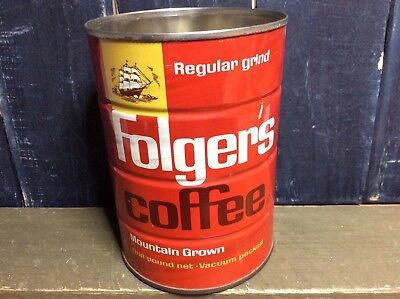 Folger's Regular Ground Vintage Mountain Grown Coffee Tin One Pound
