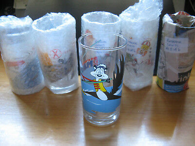 Ixl Collectables Looney Tunes Extreme Sports, 6 Limited Glasses Full Set. 2000.