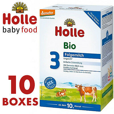 HOLLE Stage 3 ORGANIC BABY MILK FORMULA 600g FREE SHIPPING 10 BOXES /BEST PRICE/