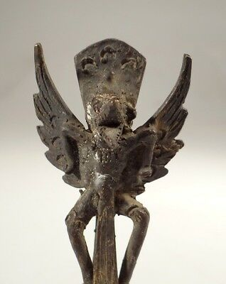 Antique Balinese Bronze Bell With Garuda Hindu Culture