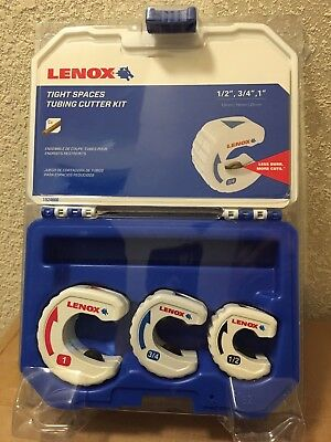 "Lenox Tight Spaces Tubing Cutter Kit,  3 Tools( 1/2, 3/4 1"") W/ Case! Free Ship!"