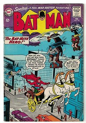 Dc Comics Batman 161 Vg+ 4.5  1964