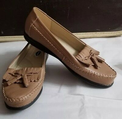e7704115b89 Dr Scholls Women Tan Tassel Loafer Moccasin double air-pillo insole 6.5  casual