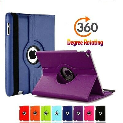 New iPad 360 Leather Smart Stand Case Cover For Apple iPad 2/3/4 Air 2 ipad 2017
