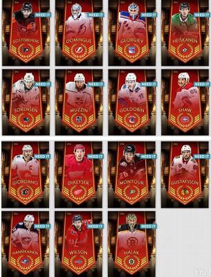 18-19 ARENA WAVE 1 SET OF 15 HALAK/GOLDOBIN++ Topps NHL Skate Digital Card