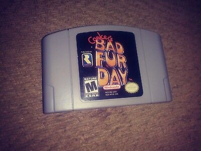Conkers Bad Fur Day Nintendo 64 N64 Rated M Authentic Game